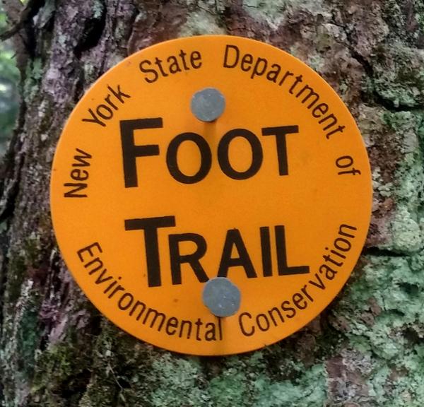 foot trail jaune